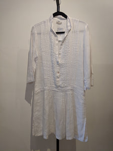 Puro Lino Pleated Linen Dress