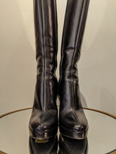 Load image into Gallery viewer, Prada Knee Boots All Black Leather