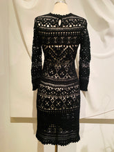 Load image into Gallery viewer, Isabel Marant Black Crochet Mini Dress