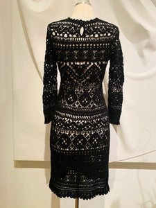 Isabel Marant Black Crochet Mini Dress