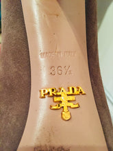Load image into Gallery viewer, Prada Taupe Suede Ankle Bootie 37.5
