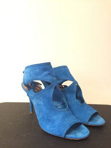 Aquazzura Sexy Thing 85 Sky Blue Sandals Sz 39