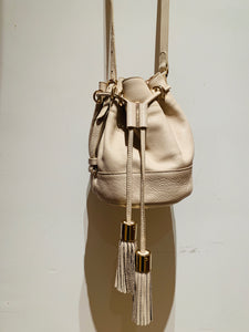 See by Chloe Creme Leather Vicki Bucket Bag