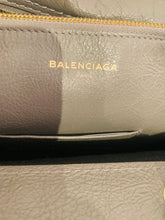 Load image into Gallery viewer, Balenciaga Grey Glazed Leather Small Blanket Bag