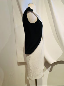 Heltmut Lang Black and White Sleeveless Mini Dress