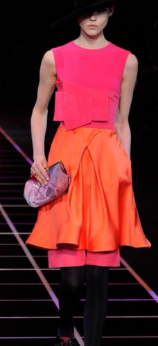 Giorgio Armani Multicolor Sleeveless Dress
