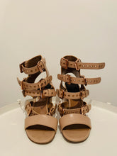 Load image into Gallery viewer, Laurence Dacade Nude Leather Sandals 38