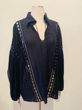 Load image into Gallery viewer, Chloé Blue Silk & Embroidery Longsleeve  Blouse