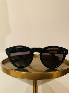 RAEN  Black Acetate Round Sunglasses