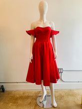 Load image into Gallery viewer, Vika Gazinskaya Red Off The Shoulder Dress