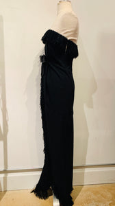 Balenciaga Black Strapless Maxi Dress