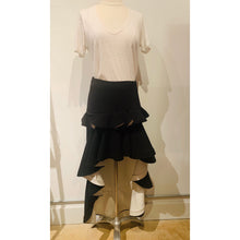 Load image into Gallery viewer, Alexis Black White Ruffle Midi Length Skirt
