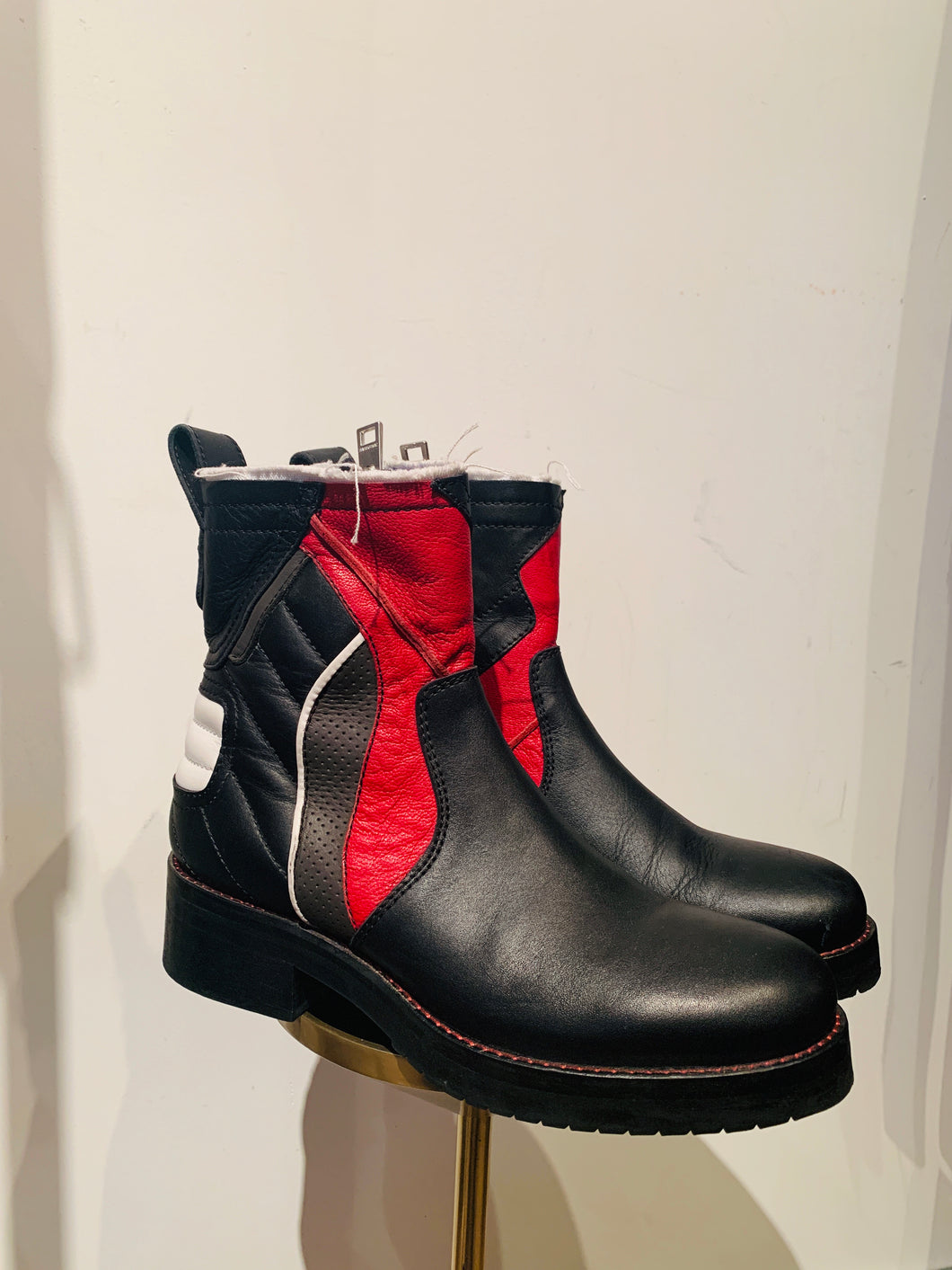 Zadig & Voltaire Multicolor Leather  Round-Toe Ankle Boots