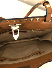 Load image into Gallery viewer, Valentino Rockstud Brown Leather Shoulder Bag