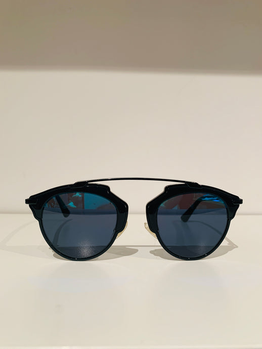 Christian Dior Black metal So Real Aviator Sunglasses