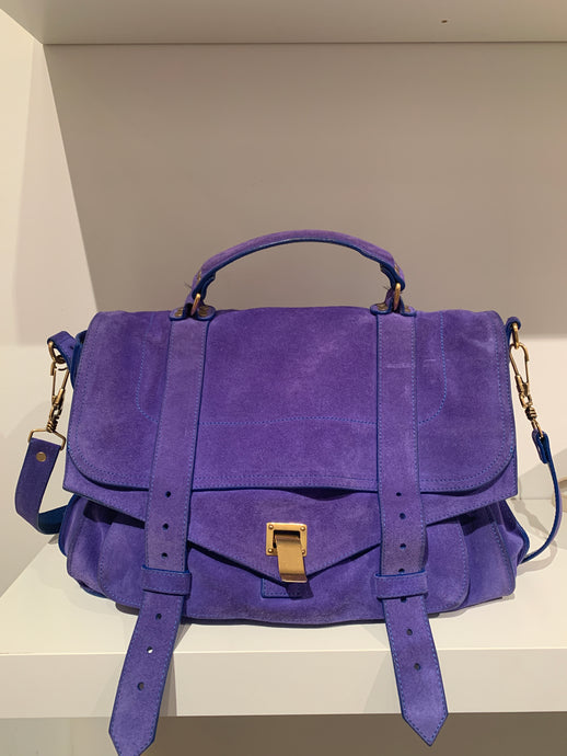 Proenza Schouler Purple Suede  PS1 satchel