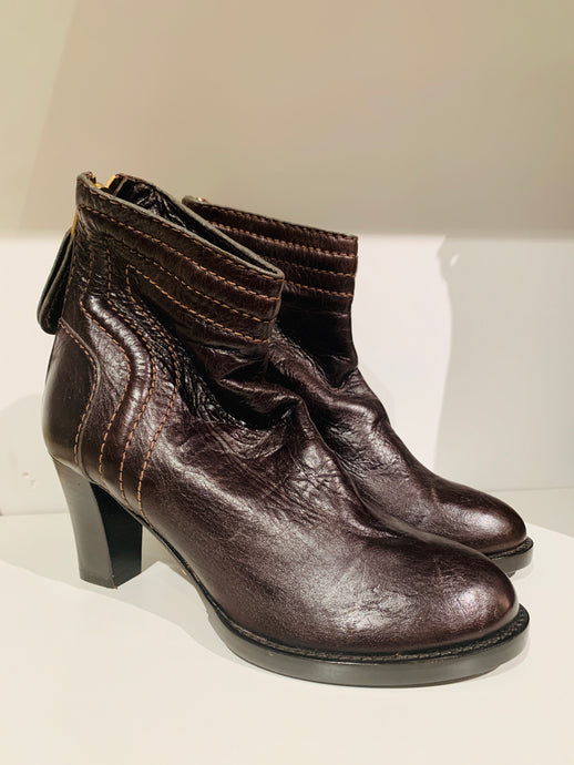 Chloé  Brown leather Ankle Boots