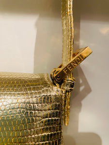 Fendi Gold-Tone Baguette Bag