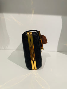 Lanvin Black Crossbody Evening Bag
