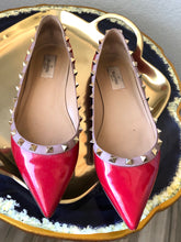 Load image into Gallery viewer, Valentino Rockstud Patent Leather Flats 42