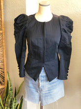 Load image into Gallery viewer, Elizabeth And James Navy Ballon Jacket