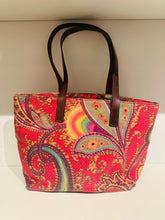 Load image into Gallery viewer, Etro Pink and Multicolor Embroidery Tote Bag
