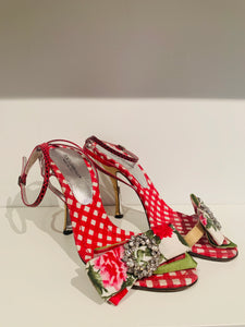 Dolce & Gabbana Multicolor Embellished Sandals 37.5