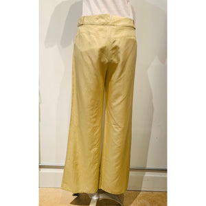 Chanel Light Yellow Wide-Leg Pants