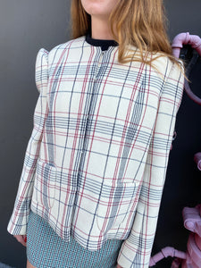 Delpozo Plaid Structured Blazer