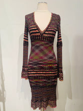 Load image into Gallery viewer, M Misonni Multicolor Stripped Dress