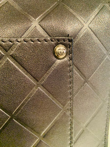Black Leather Flap crossbody Bag