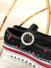 Load image into Gallery viewer, Marc Jacobs Velvet Cherry Espadrilles 39