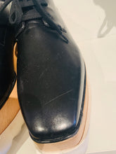 Load image into Gallery viewer, Stella McCartney Black Leather Platform Oxfords 37.5