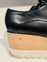 Load image into Gallery viewer, Stella McCartney Black Leather Platform Oxfords