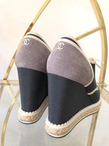 Chanel Wedge Espadrilles 39