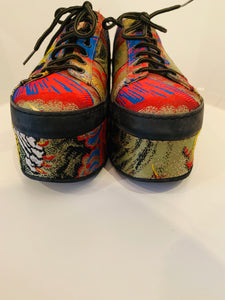 Gucci Embroidered Platform Sneakers 38