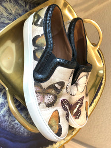 Givenchy  Printed Slip-On Sneakers Sz 40