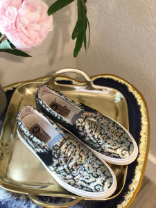 Lanvin Metallic Slip-On Sneakers 40