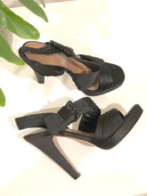 Load image into Gallery viewer, Alaia Satin Slingback Heels 36.5