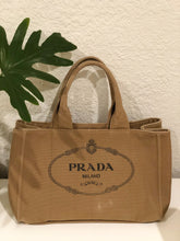Load image into Gallery viewer, Prada Canvas Logo Tote