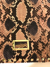 Load image into Gallery viewer, Valentino Python Rockstud Clutch