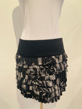 Load image into Gallery viewer, Robert Rodriguez  Black and white Printed Silk Skirt