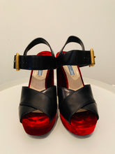Load image into Gallery viewer, Prada Velvet  Leather Platforms Sz. 39.5