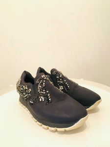 Prada Black nylon Round-Toe Sneakers