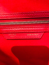 Load image into Gallery viewer, Céline Red Leather Mini Luggage tote