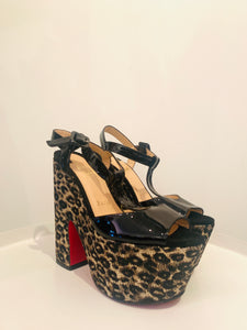 Christian Louboutin Black Patent Leather Platforms Sz. 37