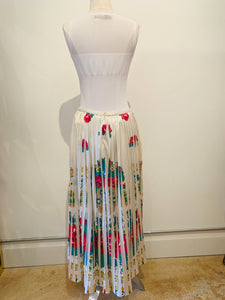 Manoush White and Multicolor Maxi Skirt