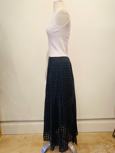 Theory Black Virgin Wool Skirt Size 4