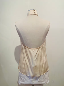 LPA Creme Sleeveless Silk Top