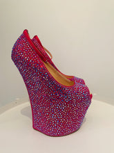 Load image into Gallery viewer, Giuseppe Zanotti Pink Exaggerated Wedge Platform 38